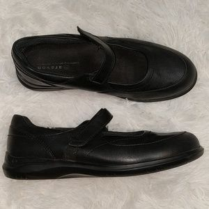 ARAVON Black Mary Jane Walking Shoes